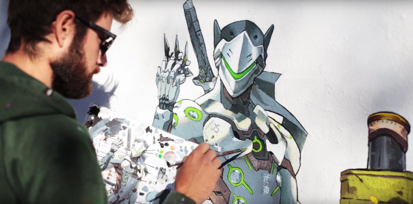 Overwatch Mural Time Lapse Video