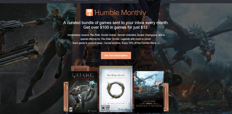 Get Quake Champions And The Elder Scrolls Online Through Humble Monthly