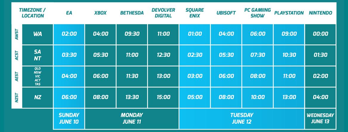 E3 2018 Schedule Hub 2