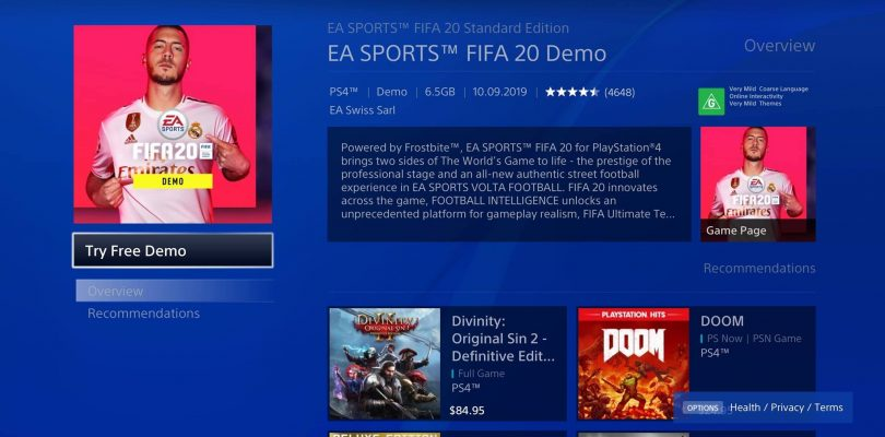 FIFA 20 Demo Now Available For Download