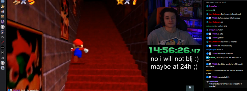 Super Mario 64 Speedrunner Livestreaming His 24 Hour Run Up The Endless Stairs