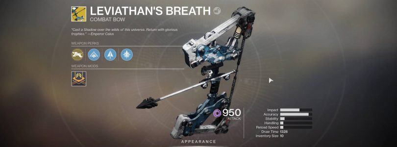 Leviathan's Breath Is Out Now In Destiny 2, Here's How To Get It